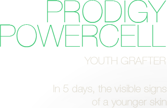Prodigy Powercell - Youth grafter - In 5 days, the visible signs of a  younger skin